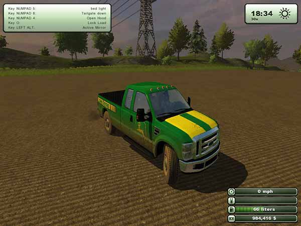 Машина Ford f-250 для Farming Simulator 2013
